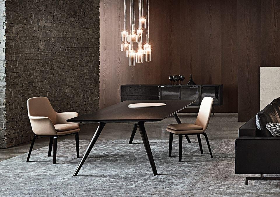 DINING TABLE EVANS, CHAIRS YORK, SIDEBOARD MORRISON - DESIGNER RODOLFO DORDONI